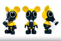 Ron English x Made by Monsters Biohazard Mousemask Murphy.