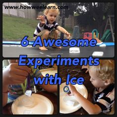 So many fun science experiments to do with ICE!  SO simple and very fun and cool!