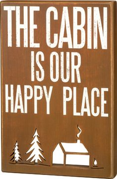 Item # 29808 | Box Sign - The Cabin | Primitives by Kathy
