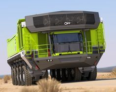 Cars Discover Mining Haulage for the Century. ETF Mining Trucks Could be one of Hiram J. Pickup Trucks, Big Rig Trucks, Dump Trucks, Cool Trucks, Cool Cars, Jeep Truck, Heavy Construction Equipment, Heavy Equipment, Mining Equipment
