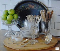 In my kitchen, I keep my silver on display to add charm, and so  it's accessible for a quick meal.