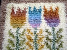 Rya Rug, Rug Making, Tapestry, Embroidery, Rugs, Knitting, Finland, Stitching, Pattern