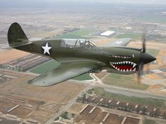 P40 Warhawk - this is the kind of plane that nicole's grandpa flew in WWII.