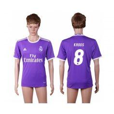 Real Madrid 16-17 Toni Kroos 8 Bortatröja Kortärmad  #Fotbollströjor