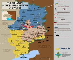 """Операция """"Кастрация"""" :))19.7.14. Situation map of Eastern Ukraine, released by the Defense Council of the Ukrainian Republic."""