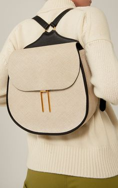 Embossed Leather Vallens Backpack by HAYWARD for Preorder on Moda Operandi