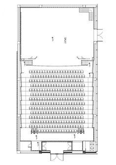 Case Studies, Centro Cultural Gabriela Mistral Image 8 – Architecture is art Auditorium Plan, Auditorium Architecture, Theatre Architecture, Auditorium Design, Auditorium Seating, Brick Architecture, Cultural Architecture, Architecture Portfolio, School Architecture