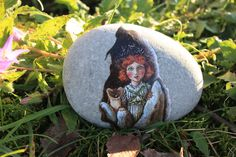Free Shipping Painted stone. Ready to ship. Little by sabiesabi