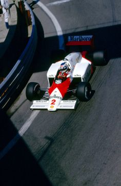 Keke Rosberg in a McLaren-TAG at the 1986 Monaco Grand Prix.