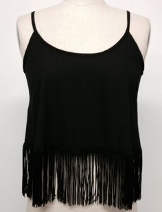 NEW FRINGE WOOL DOBBY SCOOP NECK STRAP TANK Top SEXY LOOK HOT SIZE S/M/L #windsor #Blouse