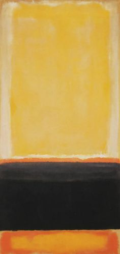 Mark Rothko, Untitled (Yellow, charcoal and brown)
