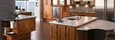 raised toe kick and lowered cabinetry