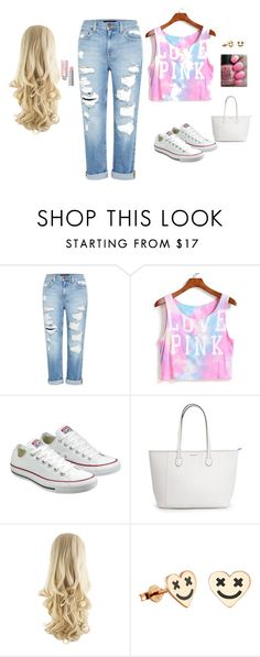 """Untitled #12"" by sara-tadic-1 ❤ liked on Polyvore featuring Genetic Denim, Converse and OPI"