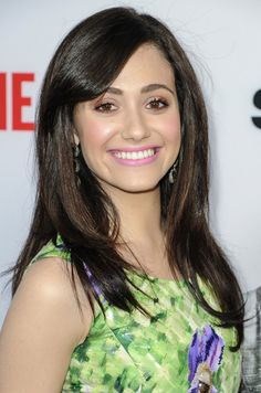 Emmy Rossum Long Straight Cut with Bangs - Emmy Rossum's hair looked super sleek and smooth at the 'Shameless' screening.