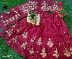 Chitrarekha Ensemble Women Lehenga  Topwear Fabric: Banglori Satin Bottomwear Fabric:Banglori Satin Dupatta Fabric: Net Set type: Lehenga, Choli And Dupatta Top Print or Pattern Type: Embroidered Sizes:  Semi Stitched (Lehenga Waist Size: 46 in, Lehenga Length Size: 46 in,  Lehengha:2.50 mtr, Duppatta Length Size: 2.5 m ,Lehengha Inner::2 mtr Blouse(Choli) :1 mtr) New Lehenga Choli, Size 2, Satin, Stitch, Type, Holiday Decor, Blouse, Hot, Pattern