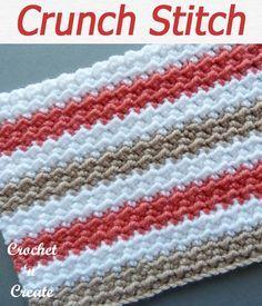 Different Crochet Stitches, Crochet Stitches For Blankets, Crochet Stitches Free, Crochet Stitches For Beginners, Crochet Motifs, Crochet Geek, Afghan Crochet Patterns, Crochet Basics, Knitting Stitches