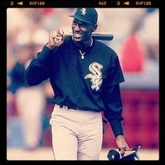 Michael Jordan - trying his hand at baseball with the Chicago White Sox. Basketball Teams, Baseball Players, Sports Teams, Michael Jordan, White Sox Baseball, Baseball Classic, Nba, Jeffrey Jordan, Sport Icon