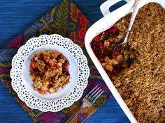 Matzo Crisp with Pear, Apple and Cranberries