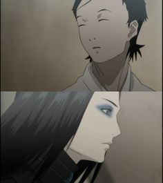 """""""I was looking for work in the FG Temporary immigrant district…that's where I first saw Re-l…"""" (Vincent Law) First encounter, Re-L & Vincent. Ergo Proxy."""