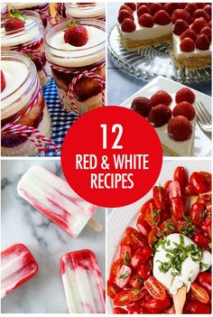Get festive for our national holiday with these 12 red and white recipes perfect for Canada Day! Party Food Themes, Dinner Themes, Party Ideas, Fruit Recipes, Cooking Recipes, Canadian Food, Canadian Dishes, Canadian Recipes, Canada Day Party