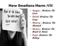 Borrowed from Rawforbeauty.com  How emotions harm you.