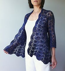 Ava lacy shells cardigan by Vicky Chan CAD7.00