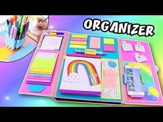 In this video, you will learn how to make a Folder Organizer of Cardboard. You can keep there your school supplies: pencils, markers, eraser. Desk Organization Diy, Folder Organization, School Supplies Organization, Diy School Supplies, Diy Desktop Organizer, Diy Organizer, Notebook Diy, Notebook Paper, Diy Back To School