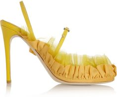Acne Studios Caia chiffon and canvas-trimmed leather sandals on shopstyle.co.uk
