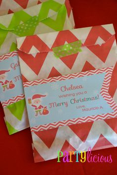 Christmas Party Favors #christmas #partyfavors