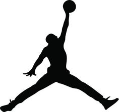"23 AIR Jordan Jumpman Logo Huge Wall Decal Sticker For Car Room Windows (5.5"" inches (White)"