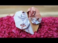 Geldschein falten Herz - Geldgeschenk zur Hochzeit, DIY Origami Tutorial Deutsch #TrauDirWasZu - YouTube