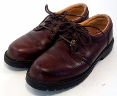 TOMMY BAHAMA Men's Shoes ~ Brown Leather Lace up Oxfordes ~ US 6.5 M - Euro 39 #TommyBahama #Oxfords
