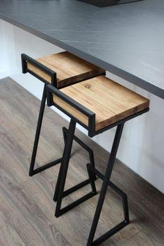 Industrialne krzesło barowe HOKER model 1