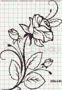 Crochet Patterns Filet Perler Beads New Ideas Crochet Patterns Filet, Crochet Motifs, Crochet Cross, Crochet Chart, Beaded Cross Stitch, Cross Stitch Rose, Cross Stitch Flowers, Cross Stitch Embroidery, Cross Stitch Designs