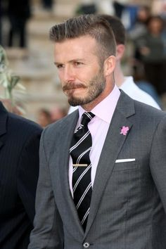 epitome of chic dressing. one and only, superstar, #DavidBeckham