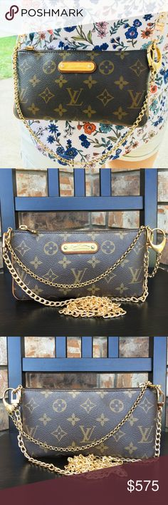 d24278a3f302 Date code VI3008. Canvas in good condition. Dirty stain inside. Pocket can  fit lv cles. Can be used as clutch shoulder bag crossbody. Come with non lv  chain ...