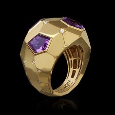 Ring Geometry - buy in Mousson Atelier Amethyst Jewelry, Birthstone Jewelry, Sterling Silver Jewelry, High Jewelry, Jewelry Rings, Gold Jewellery, Wedding Rings For Women, Rings For Men, Unusual Rings