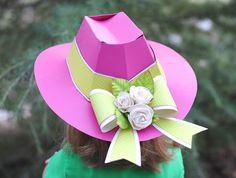 Make this with your #Cricut: Bow and flowers add beauty to this 3D hat!