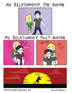 Relationship avatar: the last airbender / the legend of korr Relationship Posts, Relationships, Funny Memes, Hilarious, Team Avatar, Best Dating Apps, Romance Movies, Fun Comics, Dating Memes