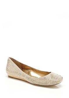 Gold sparkle flats anything but high heels but also quite cute