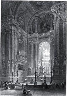Gran altar de la Iglesia de San Isidro. Grabado de 1837