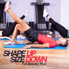 This Shape Up Size Down routine is designed to burn fat and tone muscles--and it does an AWESOME job! #shapeup #fatblaster #burnfat