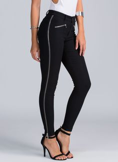 Zip it and hurry up with copping these zipper moto pants.