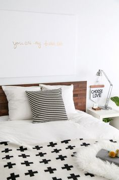 A Reclaimed Wood Stikwood Headboard