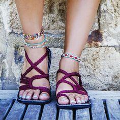 Beautiful Sunset Sangria plaka sandals for only $27.95 #plakasandals #sandals #burgundy #footwear #summer #boho #bohofashion #bohostyle