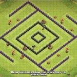MEGACube Layout - Maximum DE Protection for TH8   Clash of Clans Land Archer Queen, Clan Castle, Barbarian King, Off The Map, Clash Of Clans, Are You The One, Minions, Layout, The Minions
