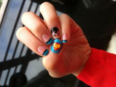 Superhero nail :)