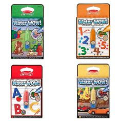 Keep the kids entertained in true mess-free fashion with the Water Wow Coloring Book from Melissa & Doug®. This activity book comes with a water pen that adds color to the pages but dries clear so they can use it again and again. With a variety of themed boards, they'll have a great time and time again.