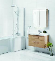 Et lite og praktisk badekar med god dusjplass. Perfekt for deg som har liten plass, men som både vil kunne bade og dusje. Eller hvis du har barn som vil bade. Kan fås i både høyre- og venstreutførelse. Kan også kompletteres med skjermvegg