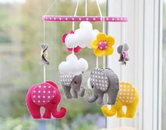 Nursery Mobile - Elephant Mobile - MADE TO ORDER